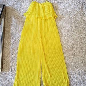 Zara Yellow Flowy Jumpsuit